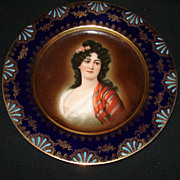 "Early 89 3/4"" german portrait plate"