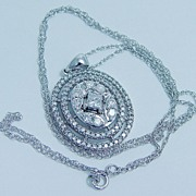 ZMR 14K White Gold Diamond Pendant Necklace LAYAWAY is available