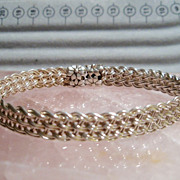 Sterling Silver Large mesh Bangle - Bracelet