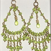 14k Gold Filled Peridot Chandeliers - Earrings