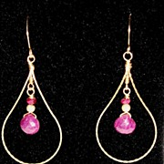 14kt Gold-filled Ruby earrings