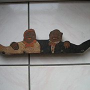 Wonderful Hand Painted Folklore Black Memorabilia Man and Woman Key Holder
