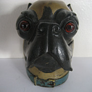 Fabulous Signed Bergman Vienna Bronze Dog Figural Inkwell