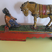 "SALE PENDING Antique J&E Stevens Company ""Always Did 'Spise A Mule"" Kicking Mule Mec"