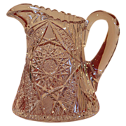 Dazzling American Brilliant Cut Glass Pitcher