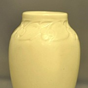Arts and Crafts Cream Rookwood Vase Decorated with Cherry and Leaf Band Design #2139 Dated ...