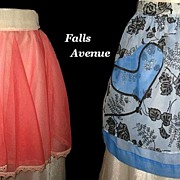 Vintage Hostess Aprons Pink & Reversible Blue