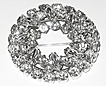 1950/60s Vintage Signed Sherman Rhinestone Raised Wreath Pin