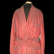 1950s Vintage Men's Dressing Robe or Smoking Jacket  Size Large