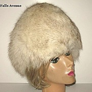 1970s Vintage Blue Fox Hat