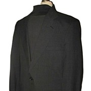 Vintage Men's Jacket or Blazer Brooks Brothers Dark Grey Wool Blend Size 40 Long