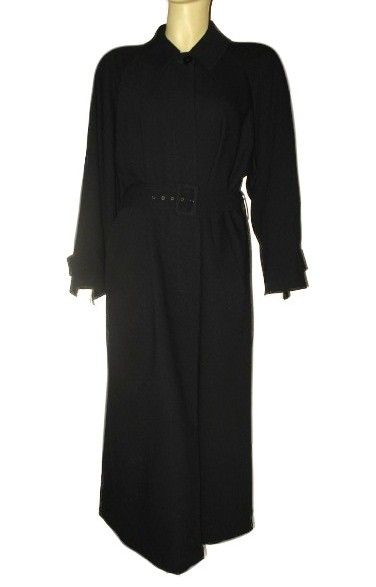 Early 1990s Vintage Woman's Black Wool Coat Giorgio Armani Le Collezioni Size Small/Medium
