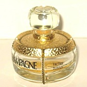 Vintage Yves Saint Laurent Champagne Perfume Factice Bottle