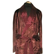 1960s Vintage Men's Dressing Robe or Smoking Jacket Size Medium