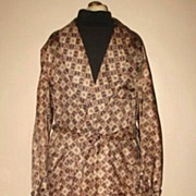 1940/50s Vintage Men's Dressing Robe or Smoking Jacket  Size Medium
