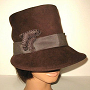 1940s Vintage Brown Felt Hat