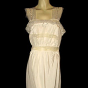 1940s Vintage Lady Edso White Lace Nightgown Size 38