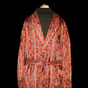 1950s Vintage State O Maine Men's Dressing Robe or Smoking Jacket Size Medium