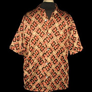 1960s Vintage Men's Rockabilly Surf King by Majestic Shirt Size Medium
