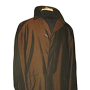 1950/60s Vintage Men's Sharkskin Overcoat Robert Hall Size 38 Short