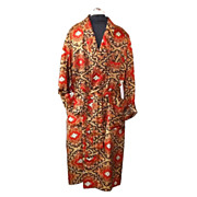 1940/50s Vintage The Pullman Lounge-Ease Men's Dressing Robe or Smoking Jacket  Size ...