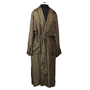 1950s Vintage Bonnington Men's Silk Dressing Robe or Smoking Jacket Size Small/Medium