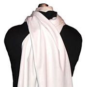 1930/40s Vintage Men's Currie Opera Scarf Ivory with Black & White Fringe