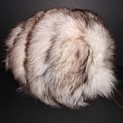Vintage Faux Fox Fur Muff
