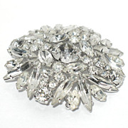 1950/60s Vintage Signed Sherman Swarovski Glass Pin
