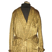 1970s Vintage Men's Health Dressing Robe or Smoking Jacket Size Medium