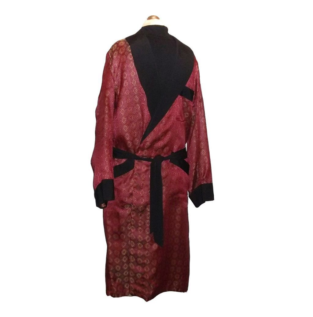 Buy mens robes - 1950/60s Vintage Caulfeild Men\'s Dressing Robe or Smoking Jacket Size