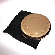 Vintage Stratton Compact Rose Relief Unused with Pouch