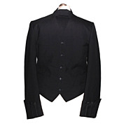 1970s Vintage Men's Harcourts Black Barrister Waistcoat or Bar Jacket Size Medium