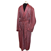 1950s Vintage Men's Robe or Smoking Jacket Burgundy Size Medium/Large