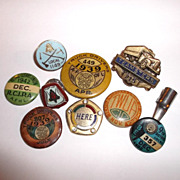 Vintage Union Pins & Caps Truck Drivers, Clerks, Teamsters & Others