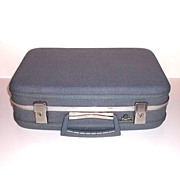 SOLD 1960s Vintage McBrine Blue Vanity Suitcase