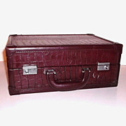 Vintage Professional's Case Burgundy Faux Leather