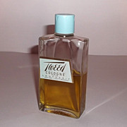 Vintage Tweed Lentheric Cologne 3 oz Bottle