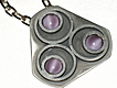 Retro 60s Modernist Bent Larsen Lavender Pewter Necklace