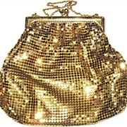 1950s Vintage Gold Metal Mesh Handbag Duramesh Made in USA