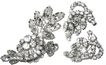 1950s Vintage D & E Juliana Tiered Swarovski Crystal Pin & Earrings Demi