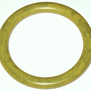 1940s Vintage Bakelite Marbled Green Bakelite Bangle