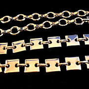 REDUCED VINTAGE  MOD Silver tone Squares and Chain Link Belt