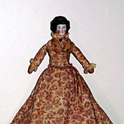 12� Antique China Doll with Braided Bun ~ 5 Layers of Old Clothing ~ Original ...