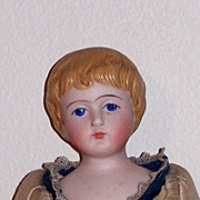 9�  Bisque Girl with Molded Hair and Original Body