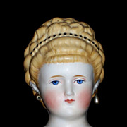 "24"" Parian-type Lady with Fancy Beaded Hair"