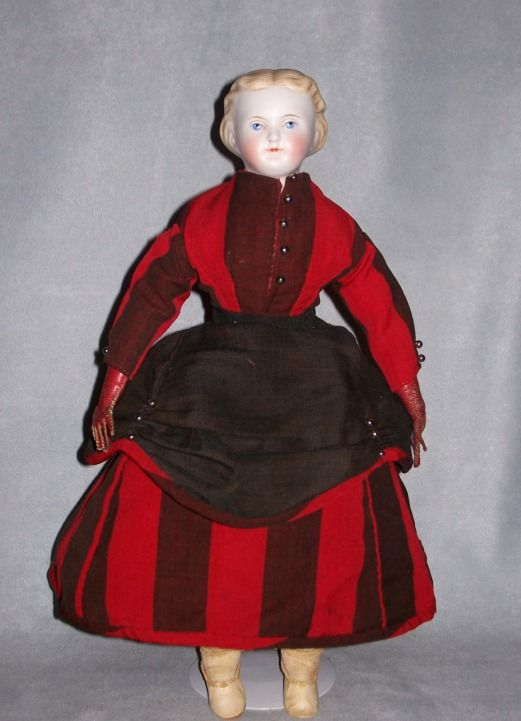 15&quot; German Bisque Lady ~ Molded Bodice ~ All Antique