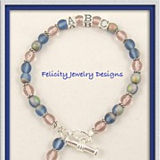 Inspiration Bracelets -  Czech Glass, Sterling Silver and Silver Plated Bracelets - CUSTOM PIE