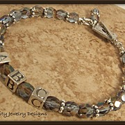 Inspiration Bracelets - Czech Glass, Sterling Silver and Silver Plated Bracelets - MADE TO ORD