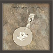 """Monograms""  - Fine Silver and Sterling Silver Letter (initial) Charm : MADE TO ORDE"